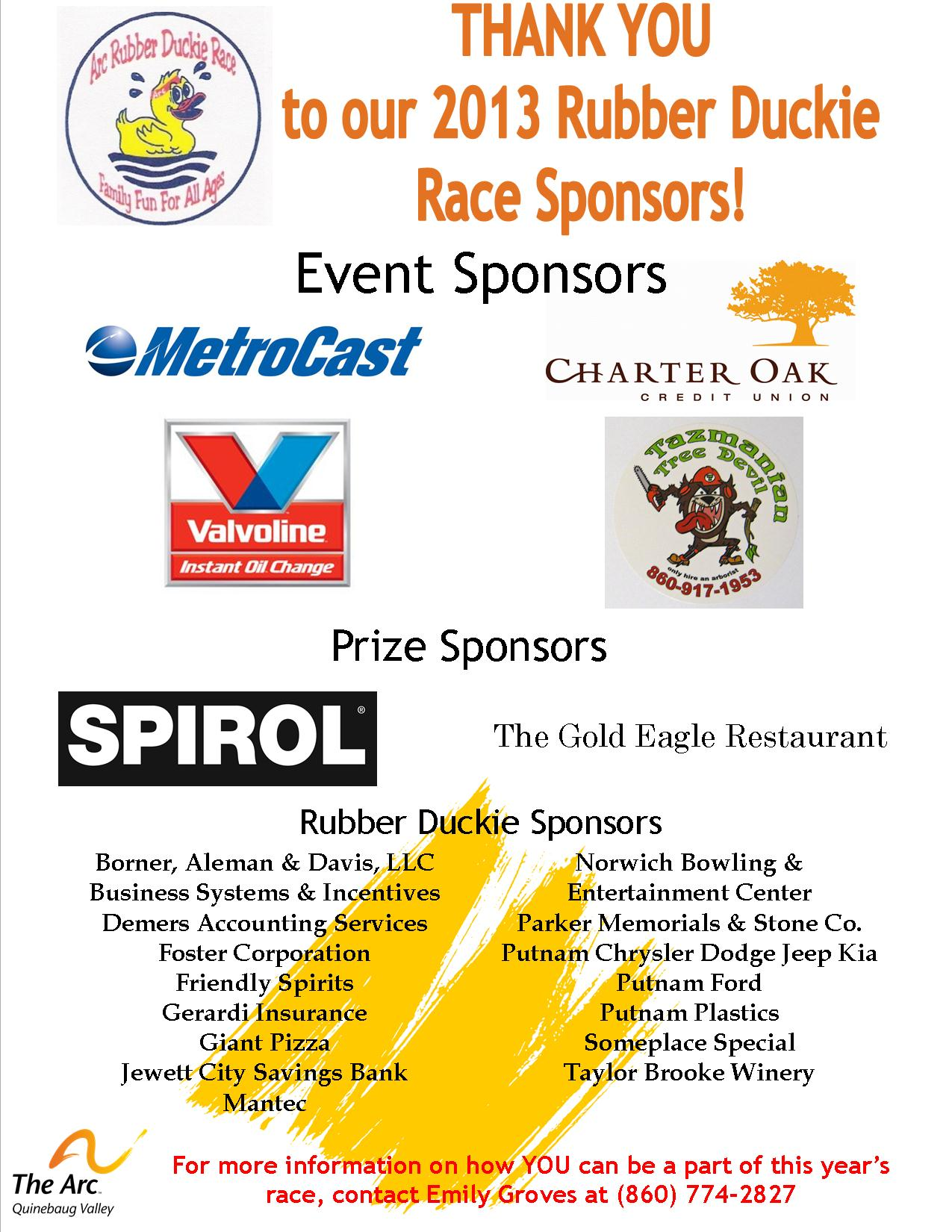 Duck 2013 Sponsors Thank You